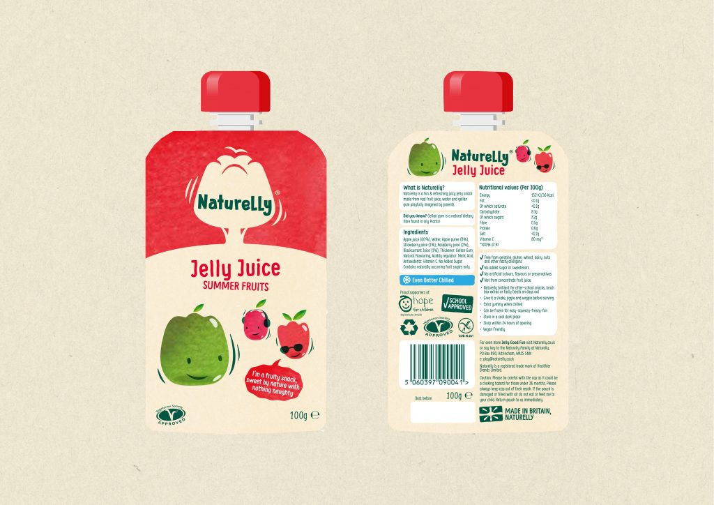 Naturelly Jelly Juice Summer Fruits a healthy snack for kids