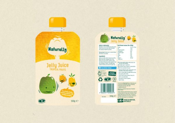 Naturelly Jelly Juice Tropical a healthy snack for kids
